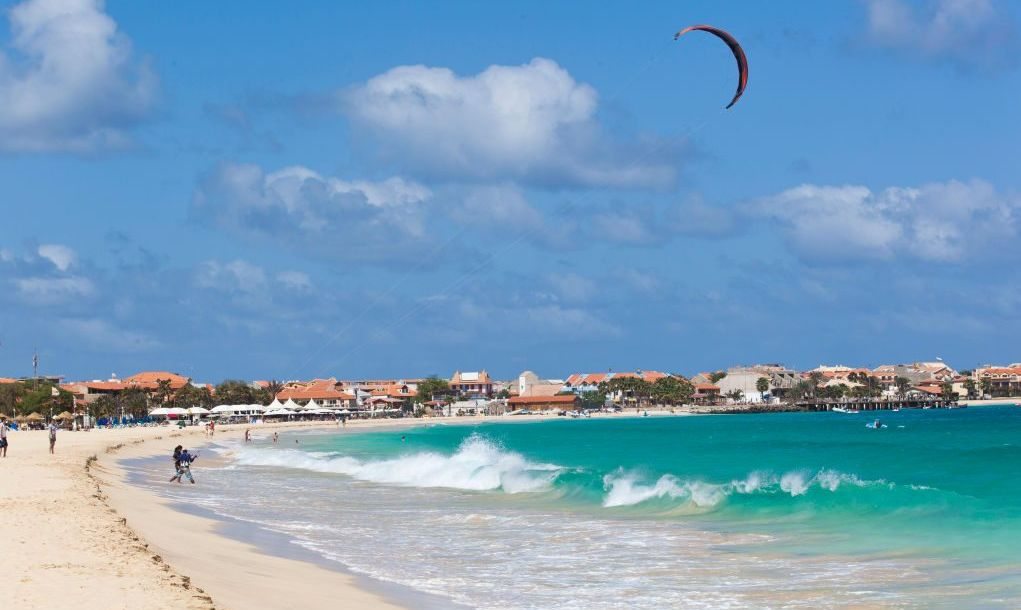 Kite surf beach in Sal Rei Cabo Verde