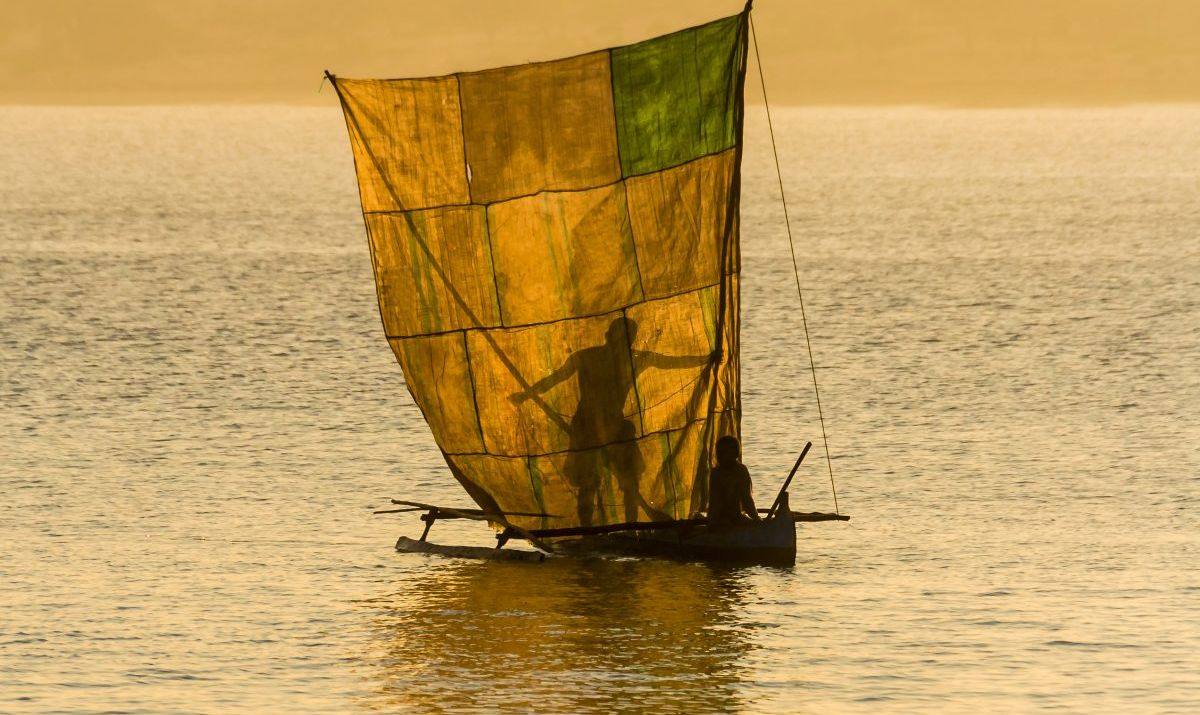 A tranquil scene on the Lagoon of Ifaty.