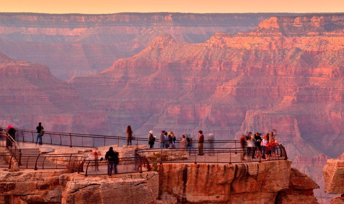 Grand canyon view point Arizona USA at sunset