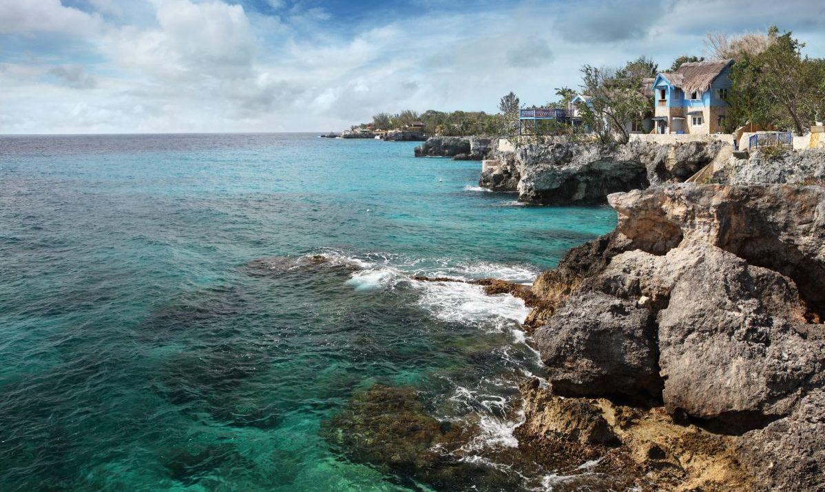 Jamaican coast at Negril