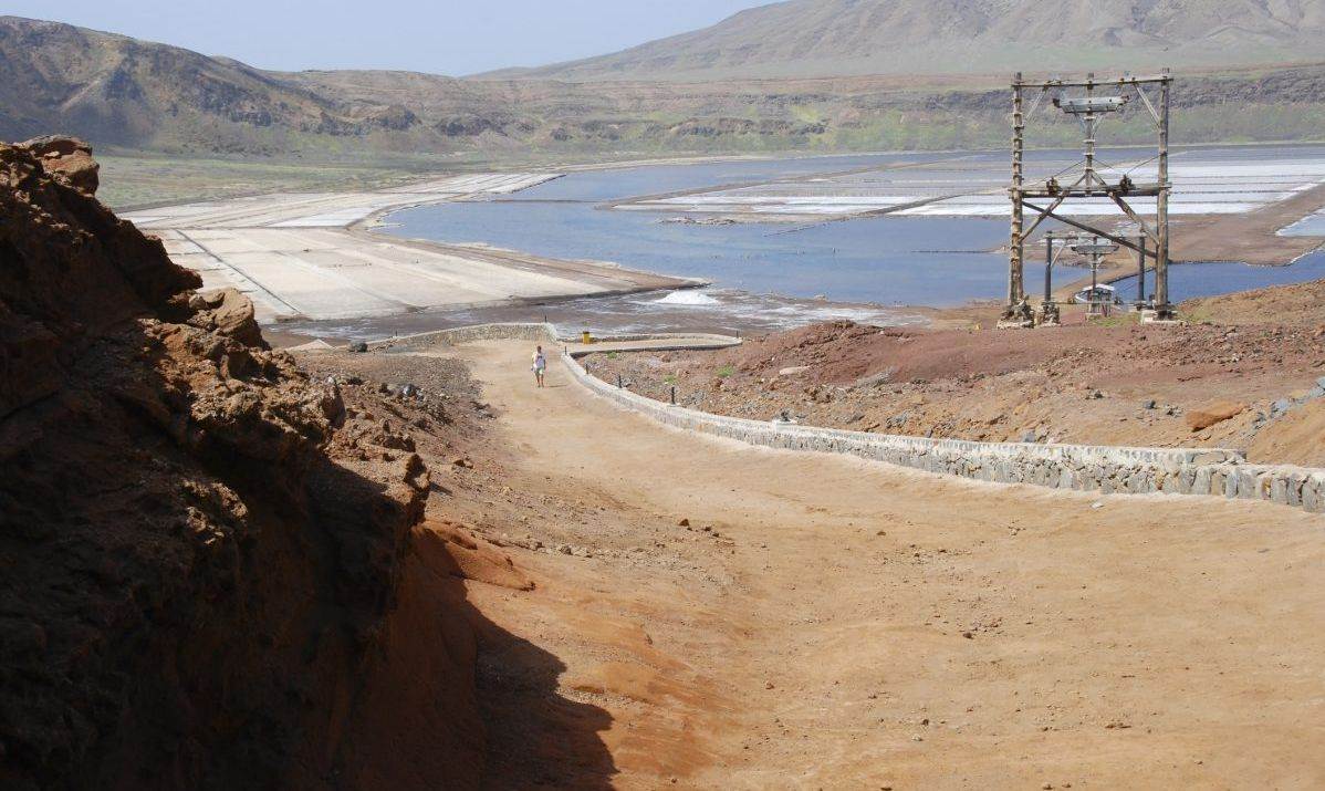 The salt flats on Sal Island Cabo Verde