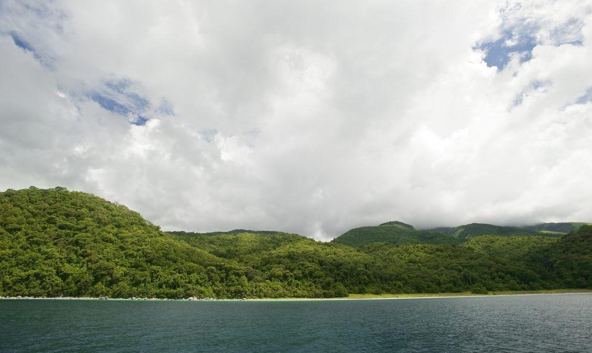 lake, hills, trees, water