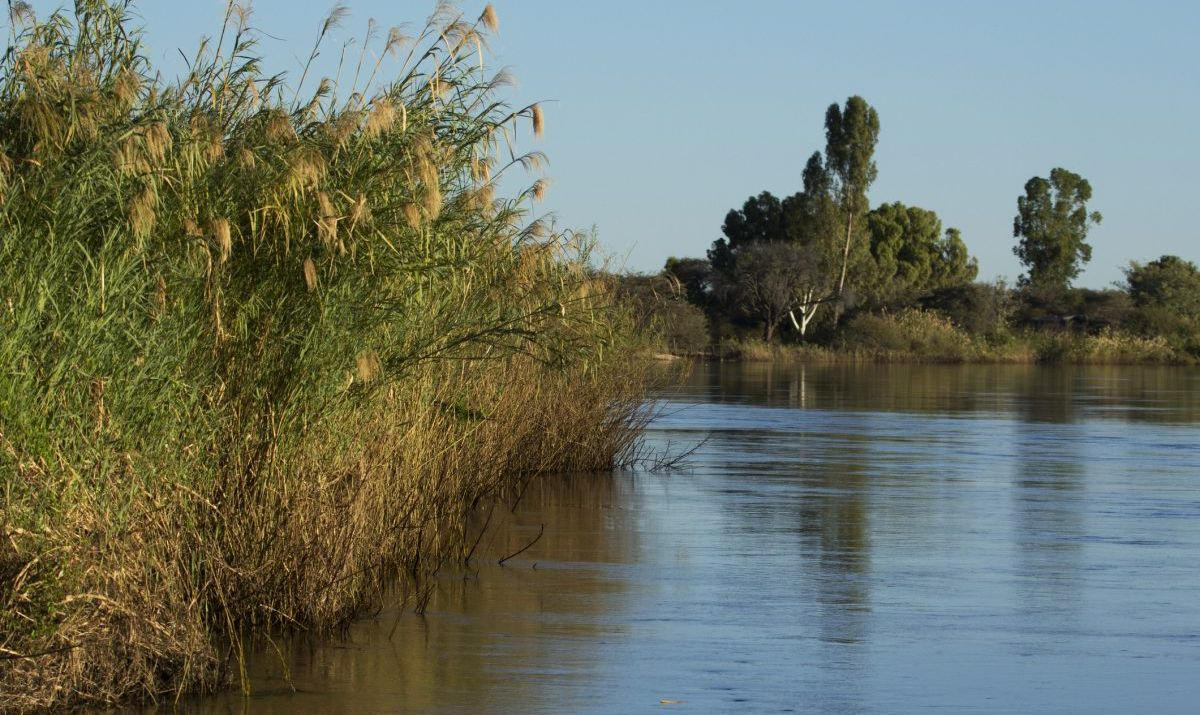 No quadripoint images. This is the closest approximation, the Caprivi Strip.