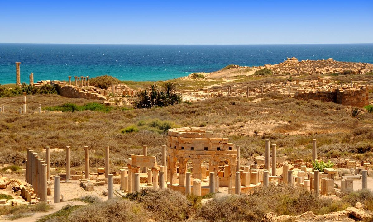 The ruins of Leptis Magna.