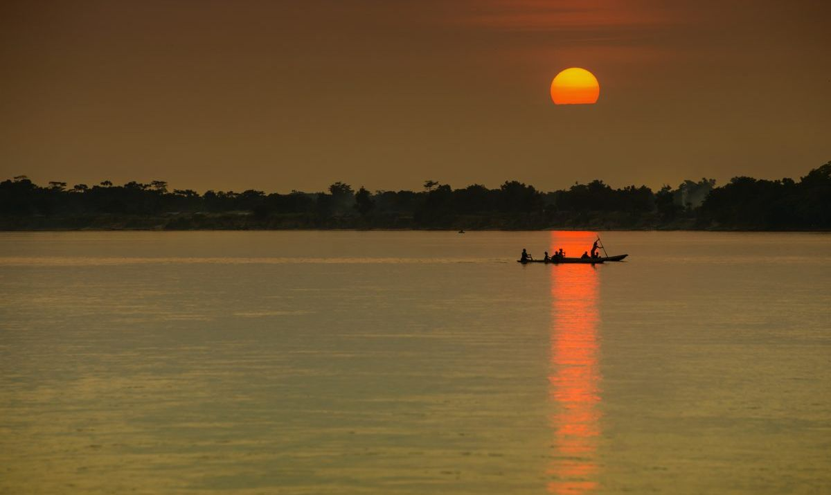 A peaceful view of the Congo River.