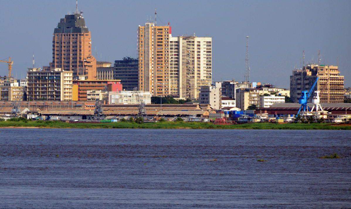 Kinshasa Skyline and the Congo River.