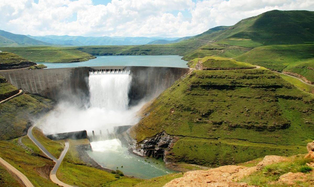 A spectacular view of Katse Dam.