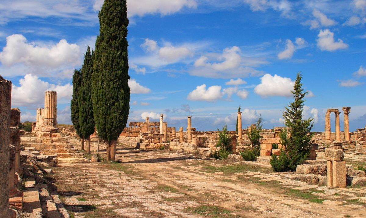 The ancient Greek ruins of Cyrene.