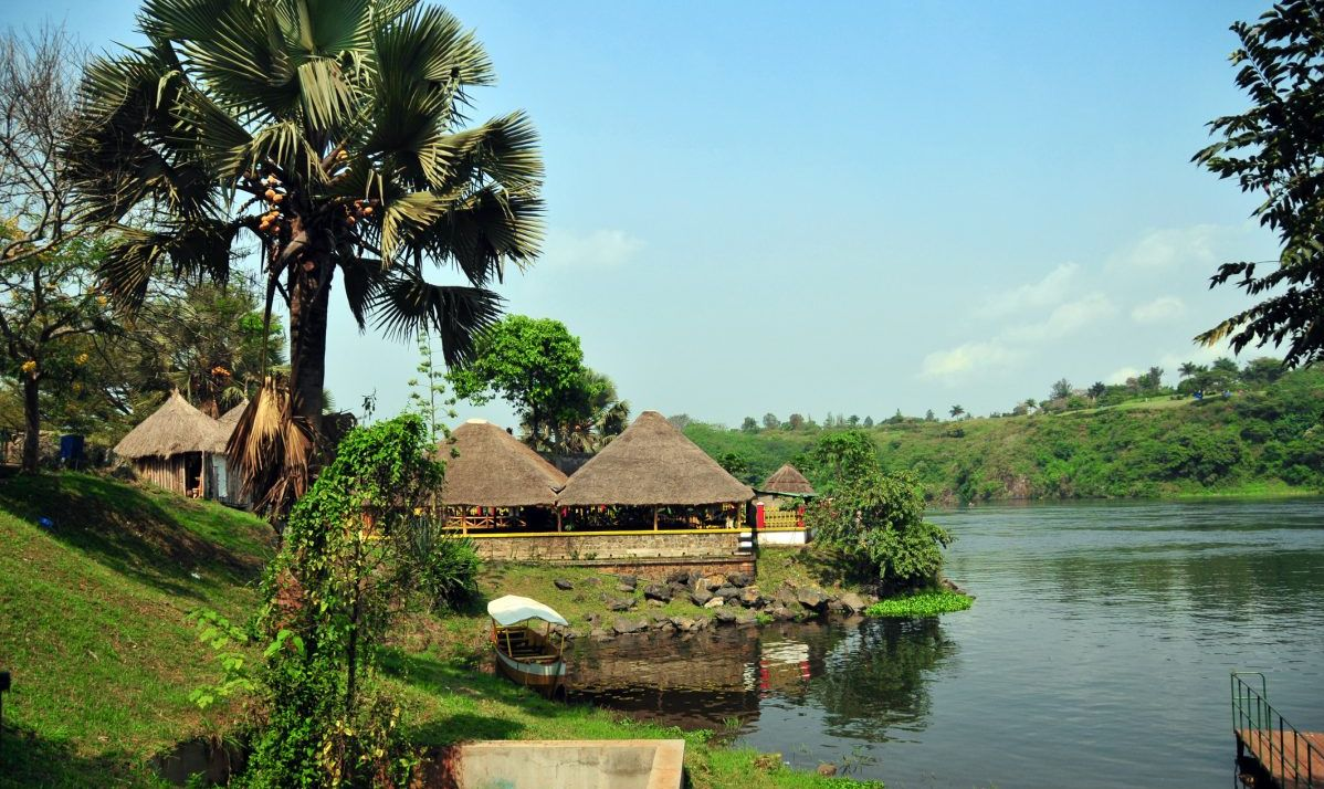 Jinja, Uganda: source of the Nile river - small boat terminal on the eastern bank of the Nile