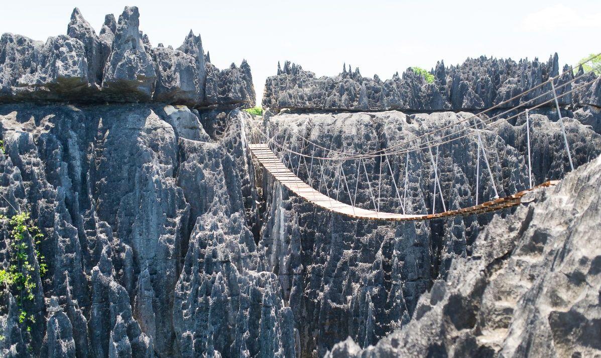 A bridge at Tsingy de Bemaraha National Park