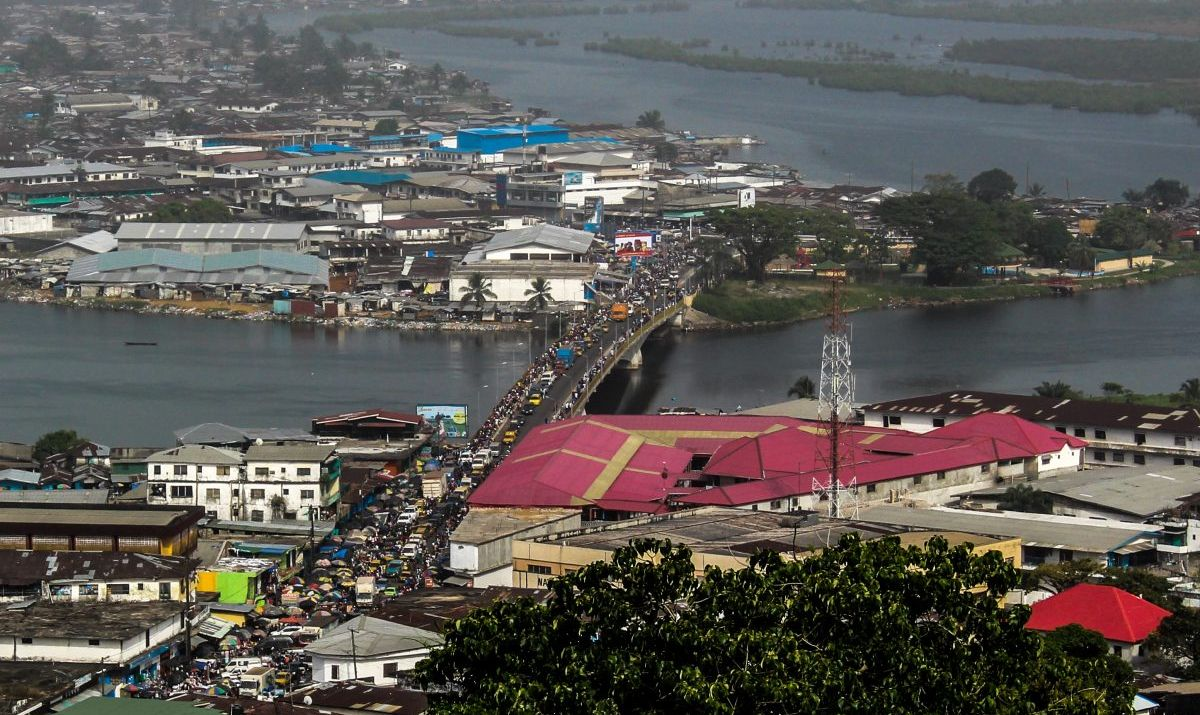 A view of Monrovia, the Liberian capital city.