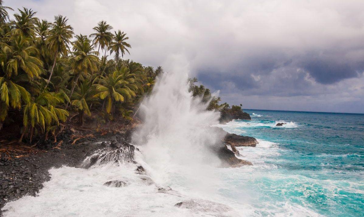 Crashing Atlantic swells.