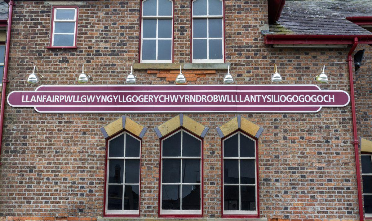 Llanfairpwllgwyngyll railway station sign.