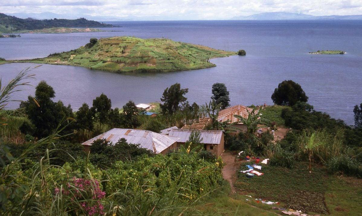 A view of Lake Kivu's islands.