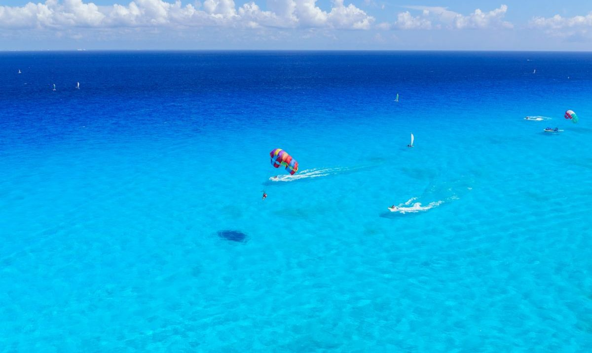 Parasailing is a popular Siesta Key beach activity.