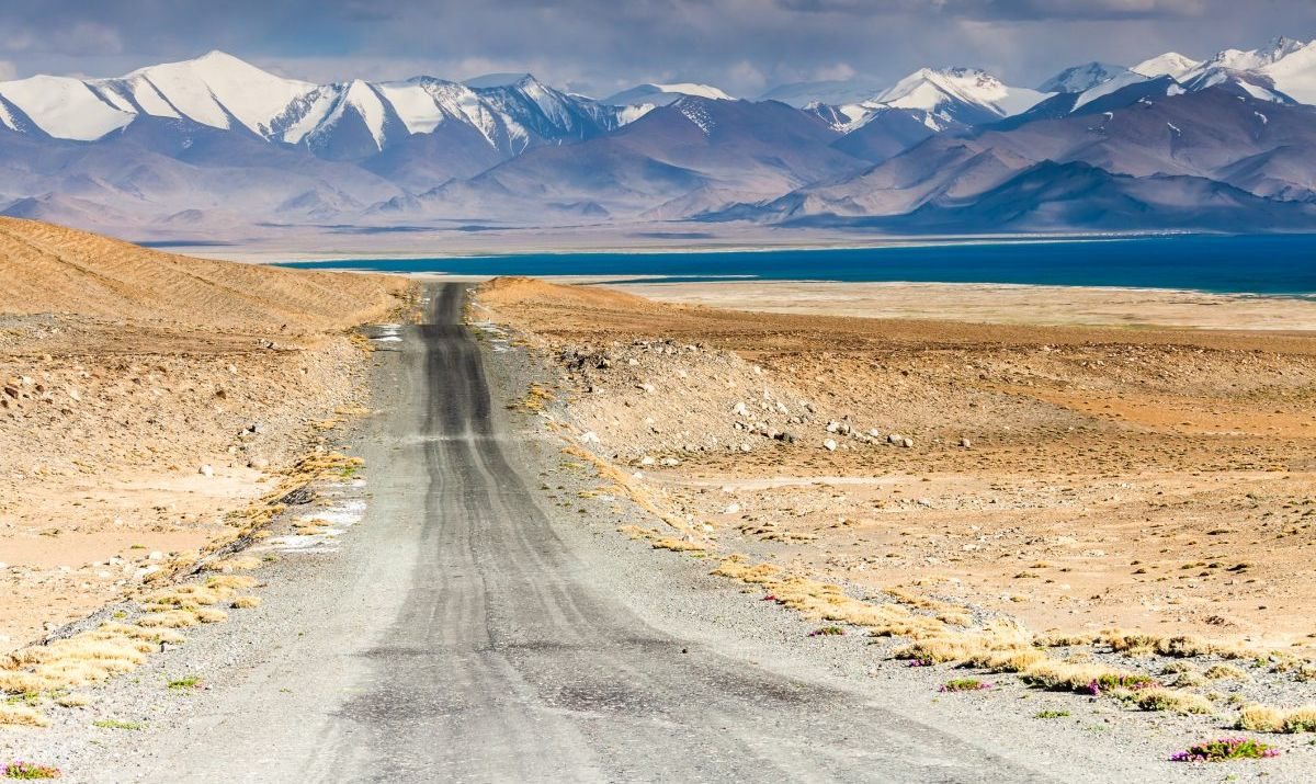 The Pamir Highway traces the ancient Silk Road Route.
