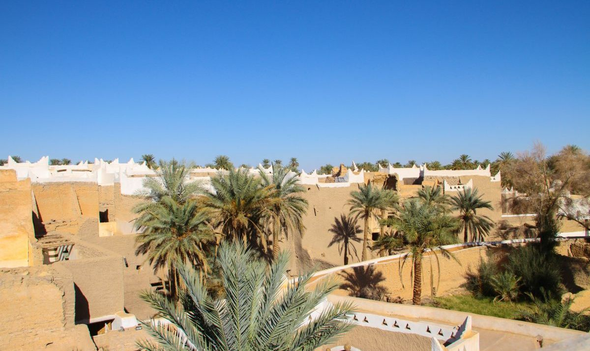The enchanting beauty of Ghadames, a desert oasis town.