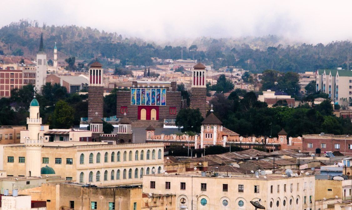 A view of the capital city Asmara.