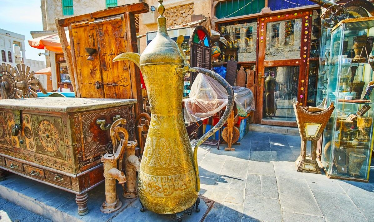 Vintage furniture in Souq Waqif, Doha, Qatar