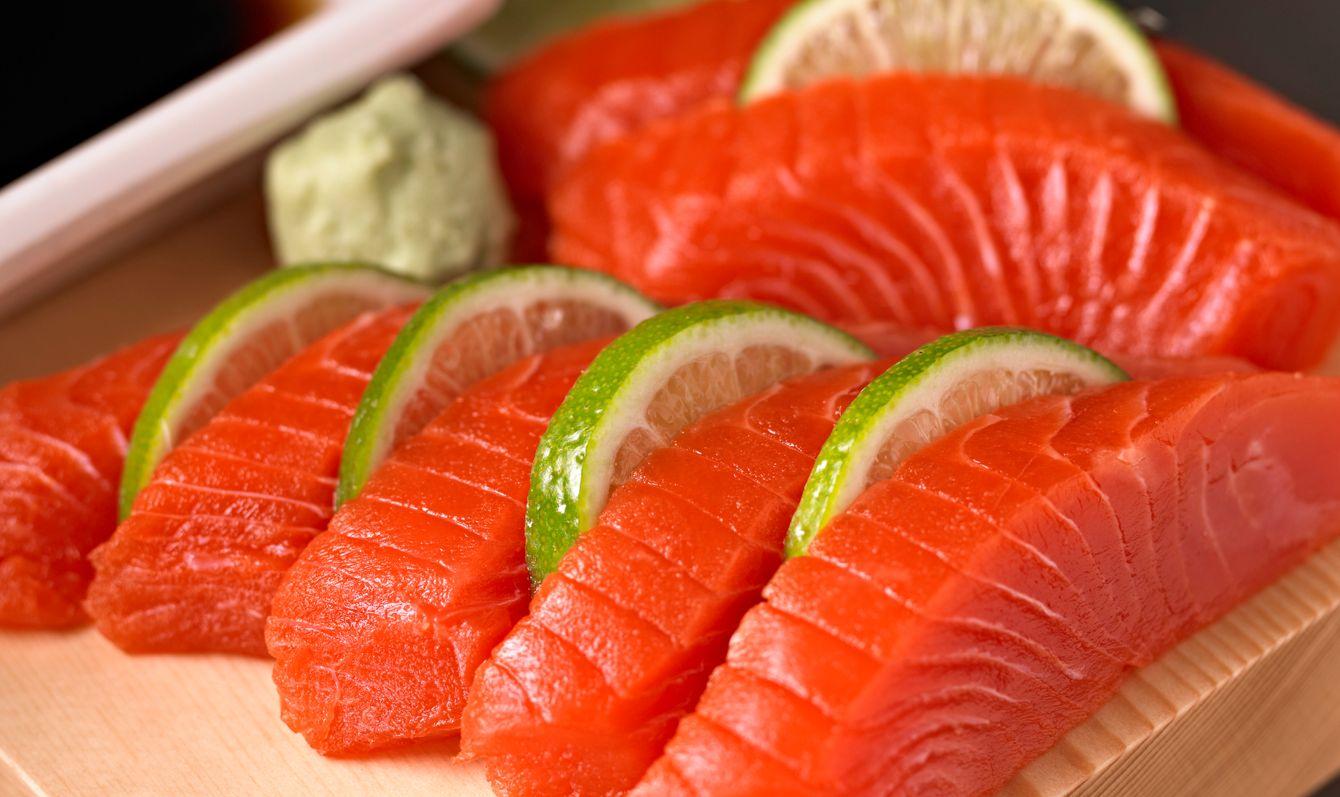 Sockeye Salmon Sashimi.