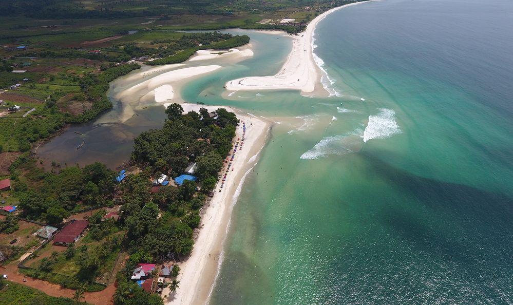 Beautiful White Beaches of the No.2 River, in Freetown, Sierra Leone