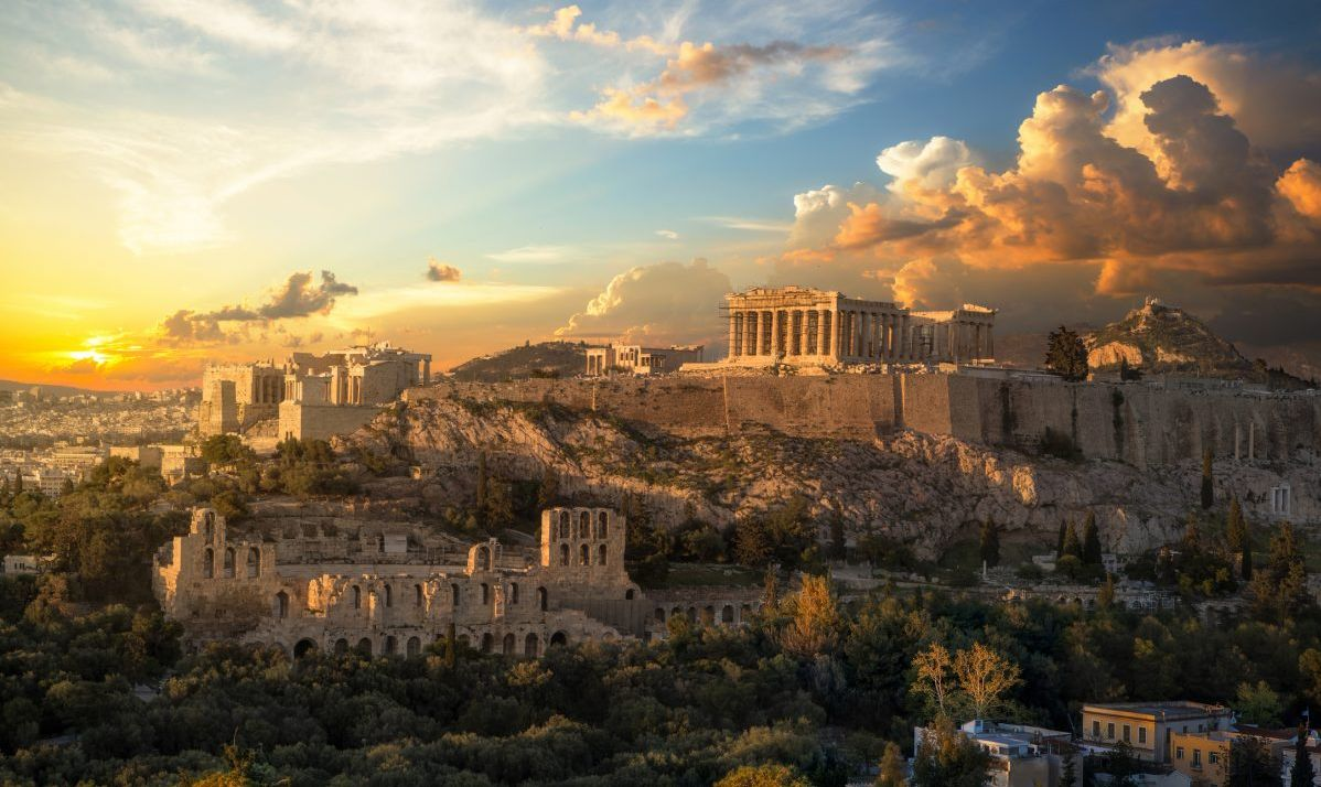 A beautiful shot of the Acropolis