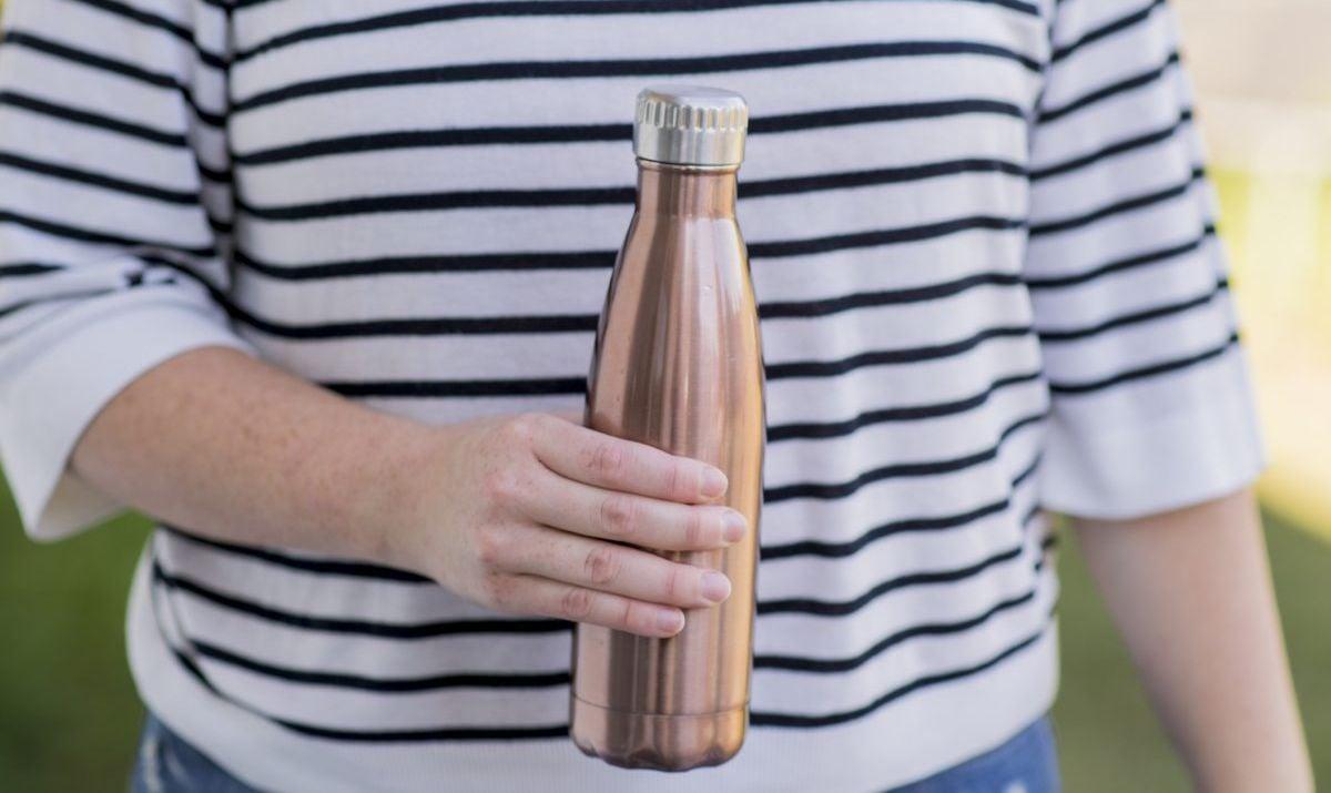 empty refillable water bottle