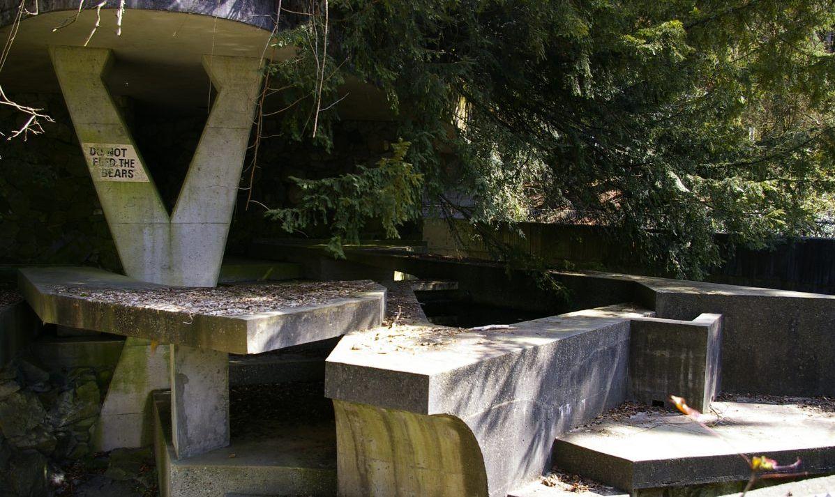 An abandoned bear exhibit