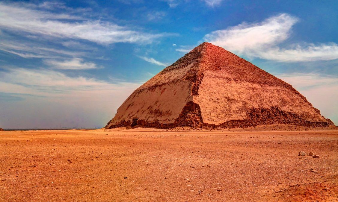 The Bent Pyramid, an early example of Egyptian pyramid construction