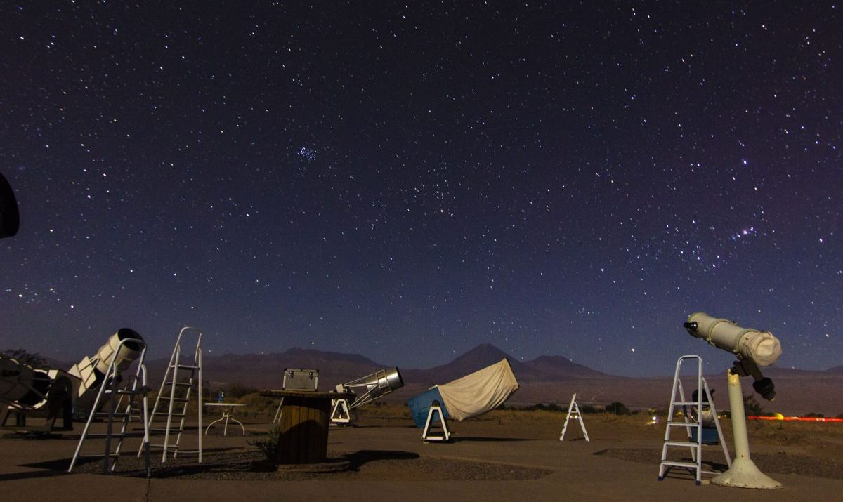 Atacama desert starscapes in Chile.