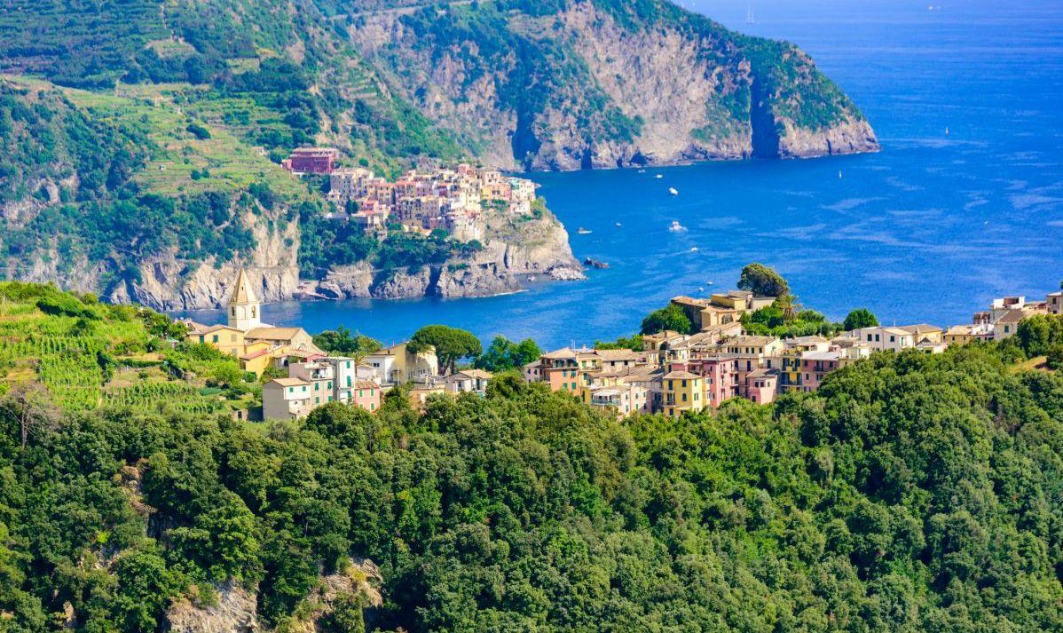 Corniglia boasts incredible views of the surrounding villages of Cinque Terre.