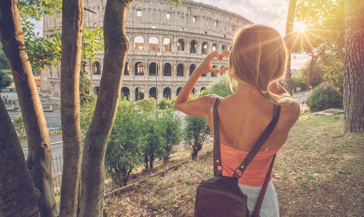 Sometimes a step back can help with capturing the grandeur of a site like the Colosseum.