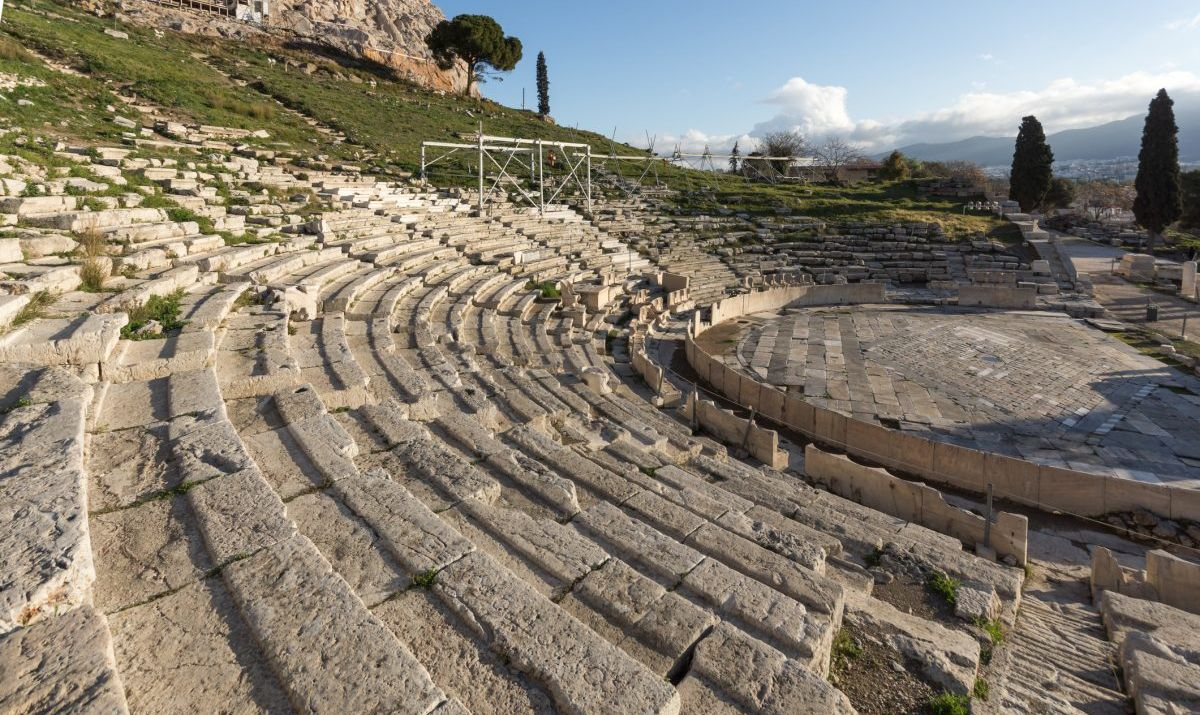 A panorama view of the Theater of Dionysus