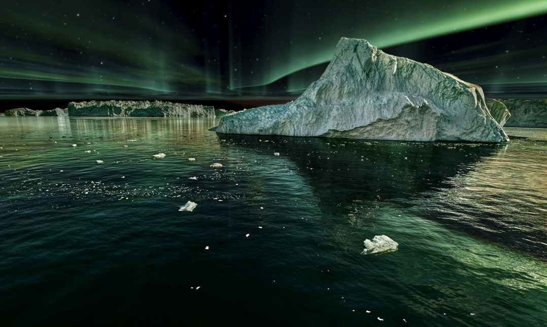 greenland ice night