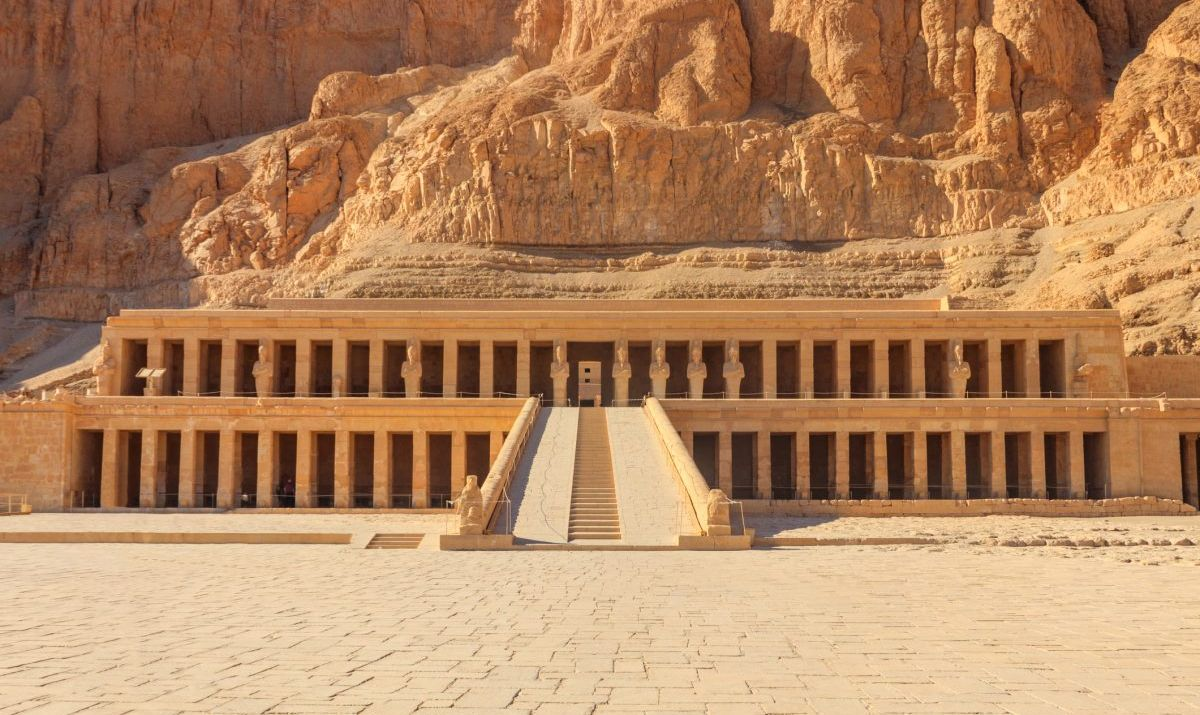 Entrance to burial temple in Luxor, Egypt