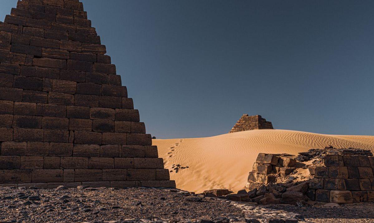 Ancient Meroitic pyramids in Sudan.