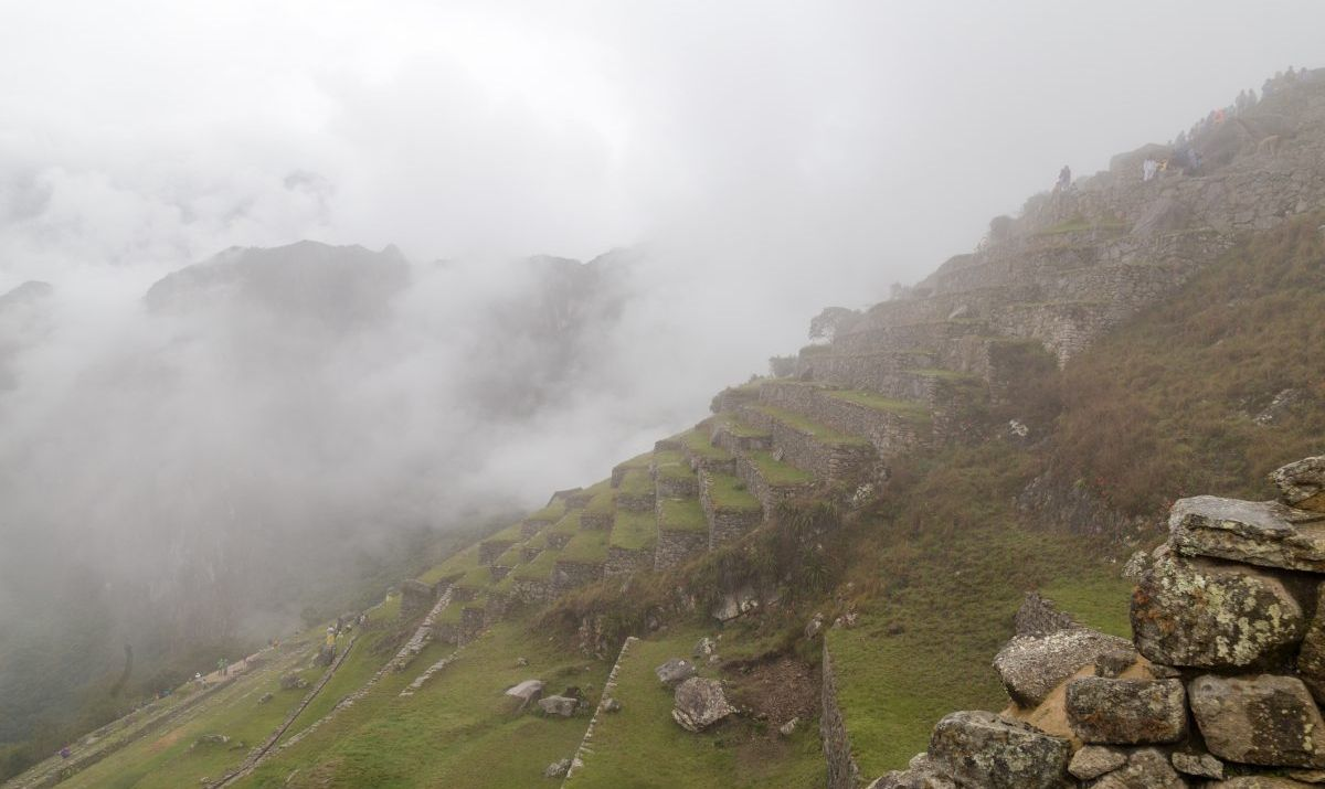 The fog at Machu Picchu can obscure your view, but it moves quickly and is gone by the afternoon.