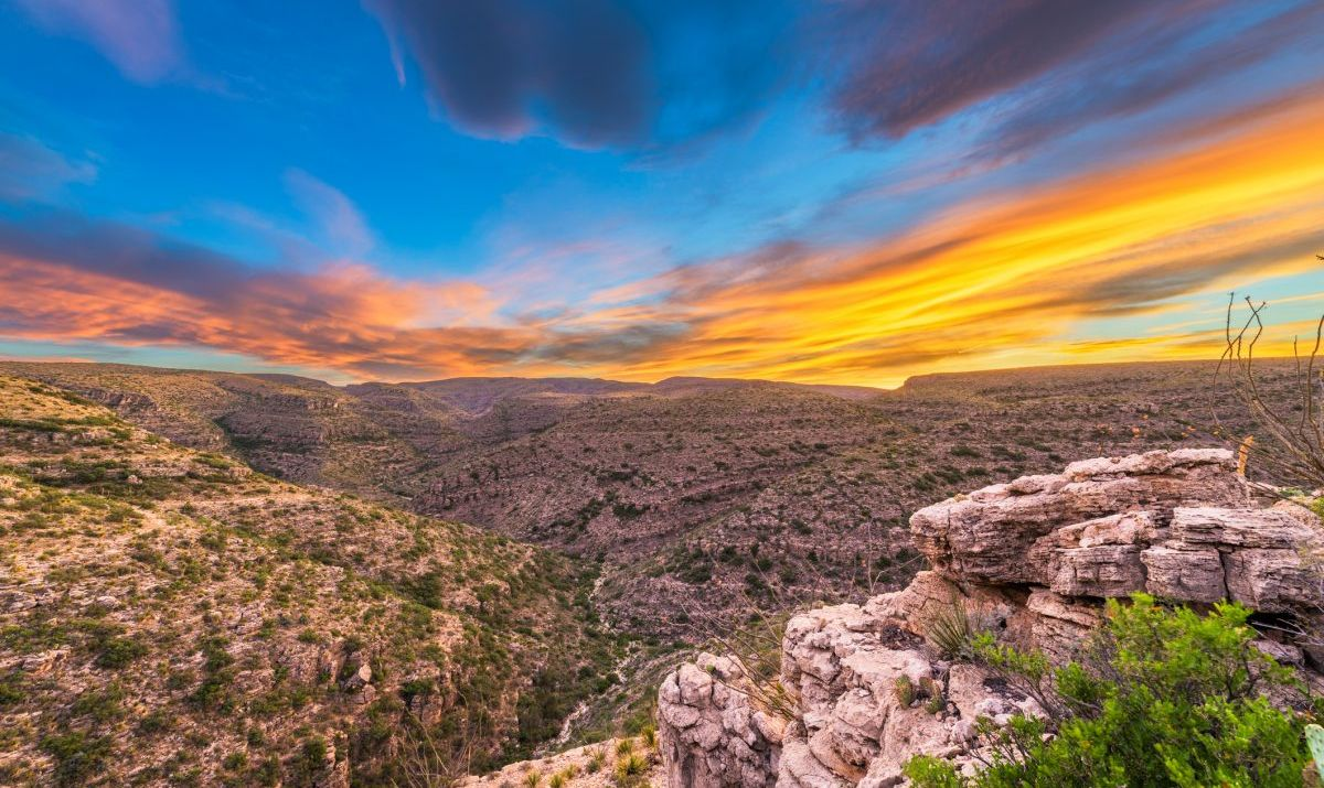 Dramatic landscapes around the Carlsbad Caverns in New Mexico