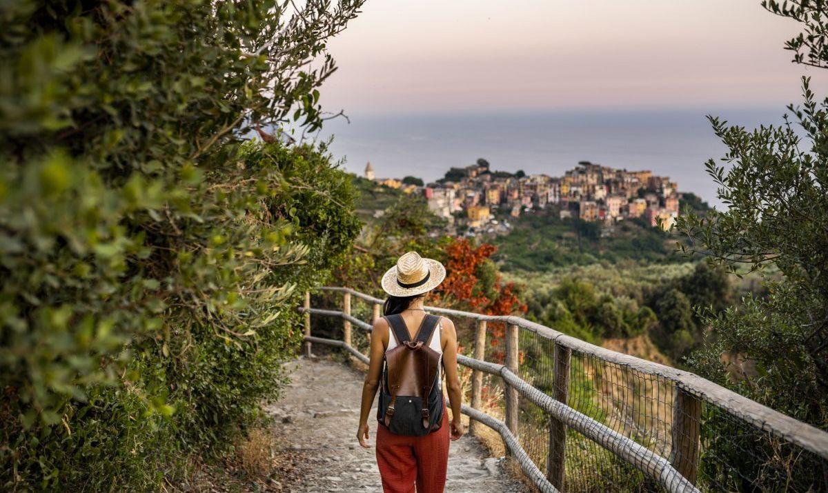 The famous Sentiero Azzurro, Blue Trail, leads hikers along a scenic coastline path.