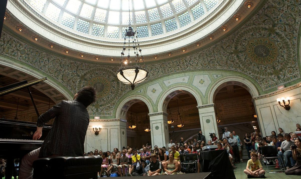 Piano concert at the Chicago Cultural Center
