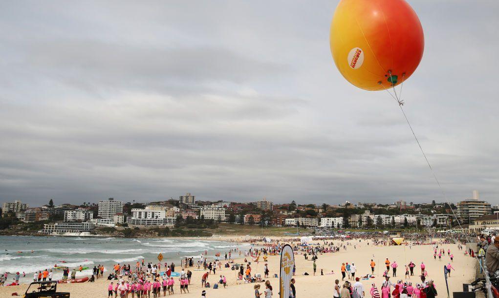 Beachgoers enjoying the Australian summer