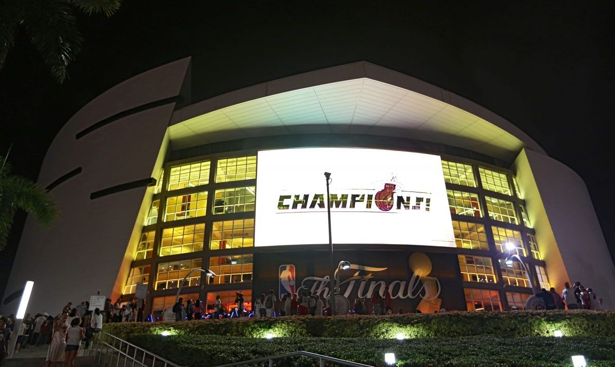 Champions in 2012, Miami Heat call the American Airlines Arena home.