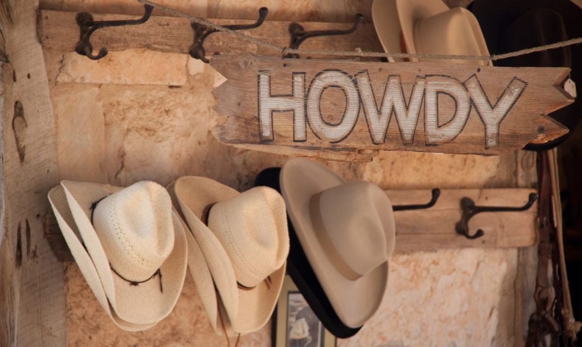Traditional Texas cowboy hats