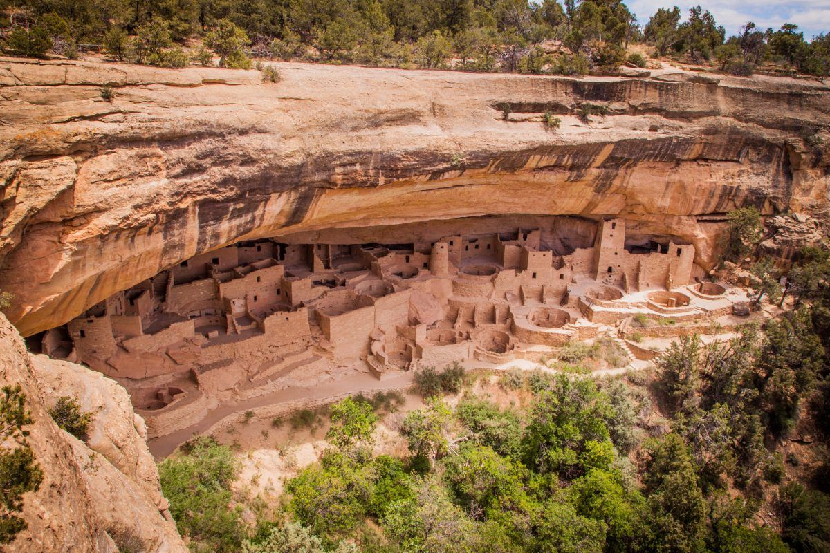 The Cliff Palace at Mesa Verde National Park in Colorado is an archaeological wonder.