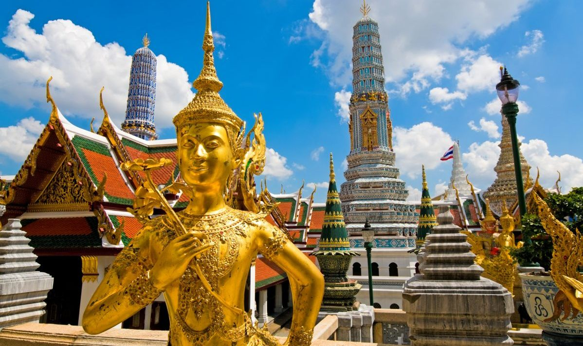 A Buddha sculpture in the Grand Palace