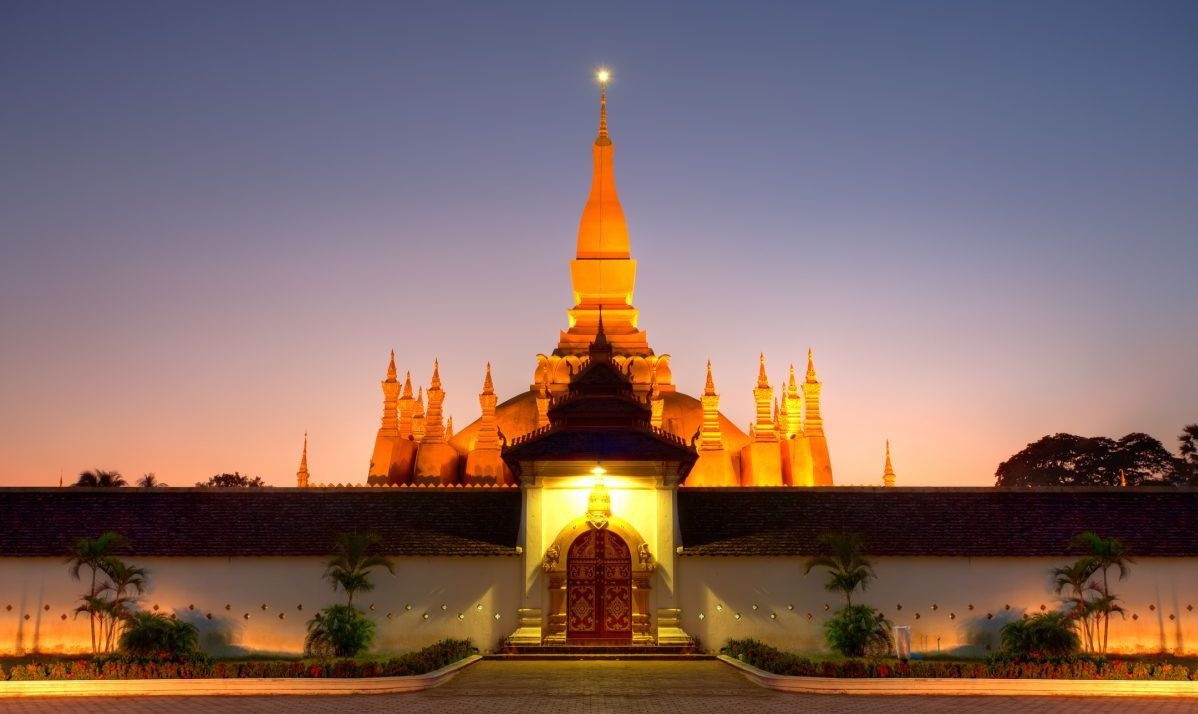 The Pha That Luang Stupa in Vientiane