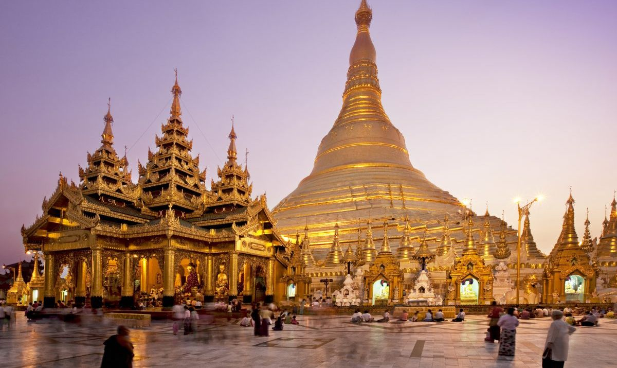 The famous Shwedagon Pagoda