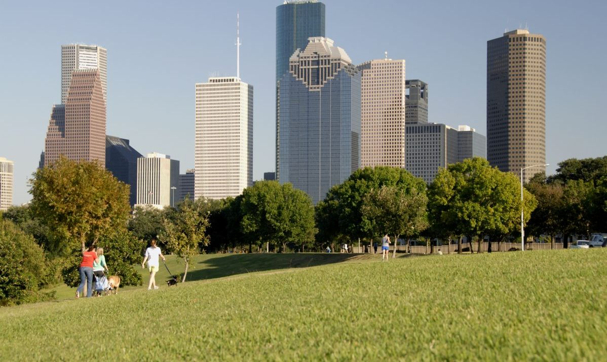There are miles of dog-friendly walks in Downtown Houston.