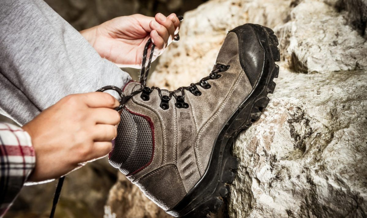 Hiking boots beat flip flops and sandals for underground cave exploring.