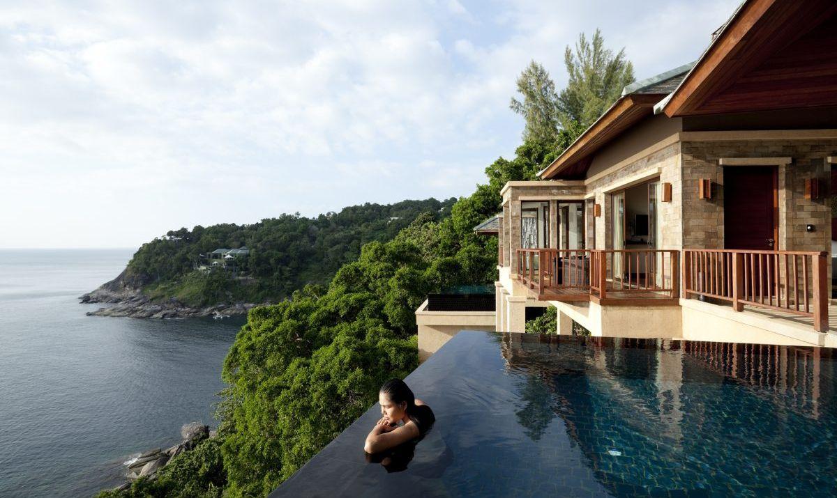 Overlooking one of many gorgeous bays on Phuket.